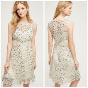 Anthropologie Floreat Windswept Lace Floral Dress